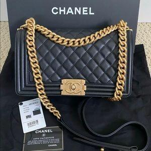 Chanel boy bag black